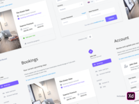 Guest Dashboard - Freebie dashboard free ui kit ui ux kit freebie email booking backend adobe xd admin