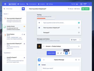 Chat bot training ui wizard forms bot chat backend admin freebie ux ui ui kit free dashboard