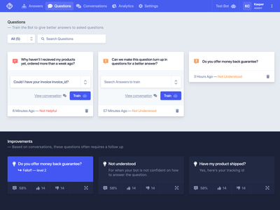 Chatbot UI Kit 🤖 - Freebie .xd wizard kit ui ux freebie free forms dashboard chat gui backend admin