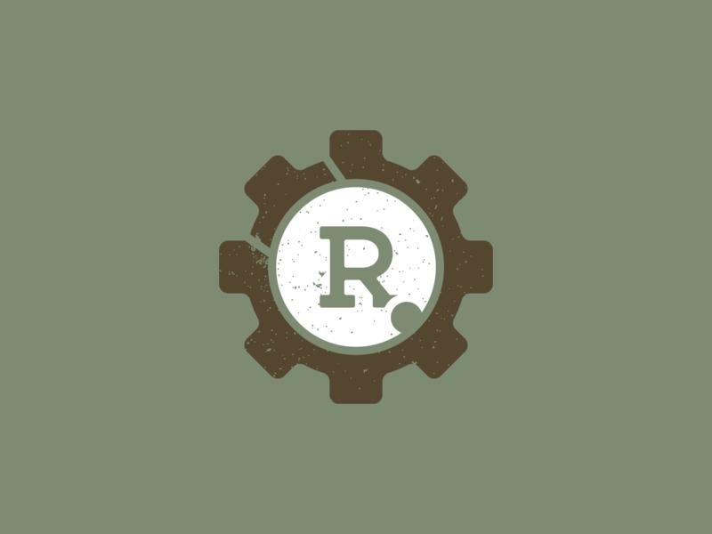 Rugged Regiment | Mark logomark apparel logo brand design brand identity branding brand flat design marines vintage weathered badge rugged regiment military rugged regiment gun bolt face bolt army veteran