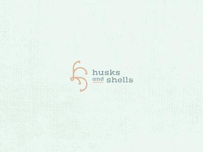 Husks and Shells icon design icon minimal flat design geometric lettermark brand identity vintage weathered branding logo design logomark seashell shell husk ocean sea hs monogram nautical