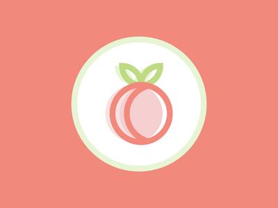 Feeling peachy isometric geometric colorful brand identity soft light cute flat logo flat concept brand logo branding logo design iconography icon peach fruit logo vector