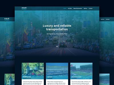 UI A-To-B Sedan cards ux página web interfaces landing page diseño web website web design ui