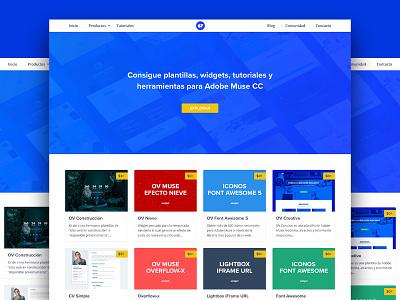 OV Muse theme plantillas templates adobe muse ux interfaces landing page website web design ui