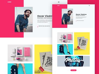 Template OV Portfolio portfolio webdesign template sketch app landing page diseño web website web design ui