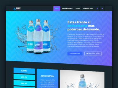 UI Home Hawa diseño web web diseño sitio web interfaces uidesign shop ux ui