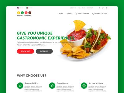 UI Gourmet Experience userinterface mexican food food diseño web interfaces logo sketch app website ux design web ui