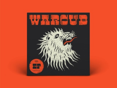 Warcub EP Artwork typography type vector lionking music musicbed warcub king lion head ep lion cd vinyl design illustration album cover design album cover album art album