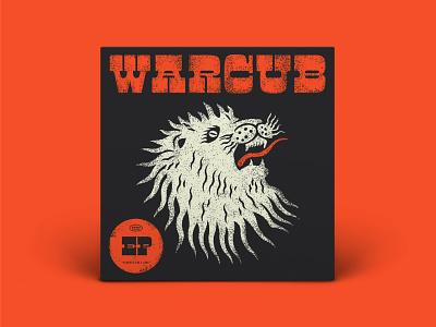 Warcub EP Artwork typography type vector lionking music musicbed warcub king lion head ep lion cd vinyl design illustration album cover design album cover album art album