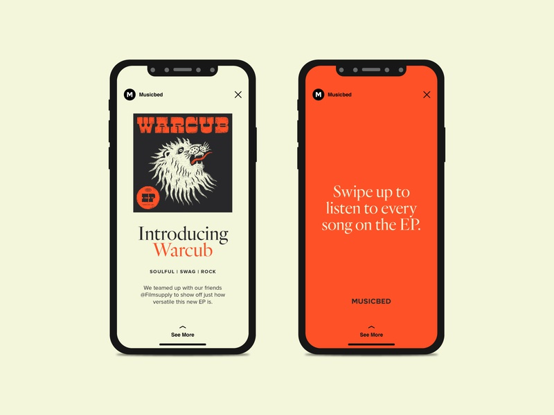 Warcub Instagram Stories social network social app social media orange instagram stories ig stories instagram story instagram post instagram ep album lion design warcub typography type musicbed