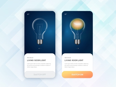 Smart Home UI Screens