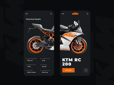 Bike UI Design