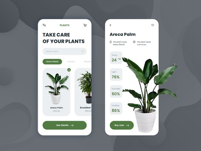 Plants UI Design