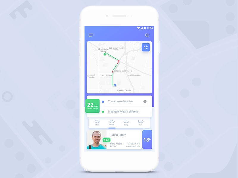 Car Booking App UI by UxdSat® on Dribbble