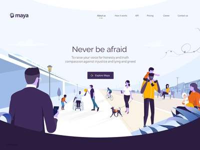 Maya Landing Page Illustration