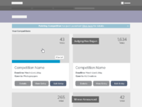Competitions wireframe
