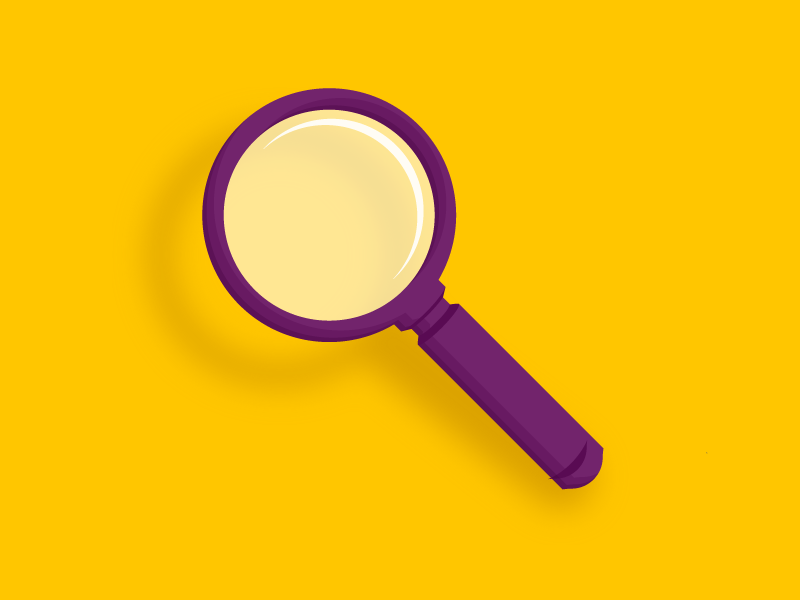 Magnifying Glass illustration icon magnifying glass