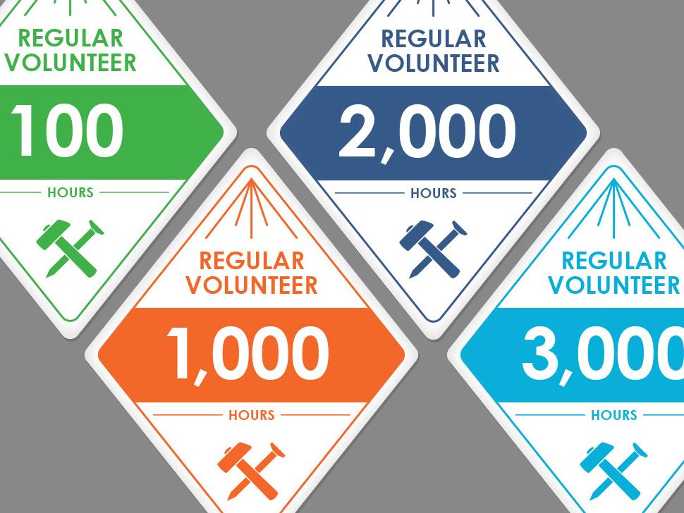 Volunteer Stickers flat  design diamond sticker sticker set