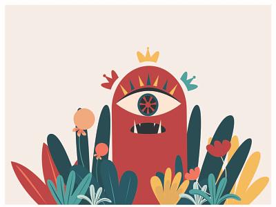 Momo monster vector color design illustration