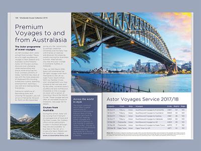 Cruise & Maritime Voyages (Concept) print concept wip content identity australia magazine brochure simplicity branding travel dps