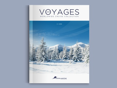 Cruise & Maritime Voyages (Concept Cover) wip travel simplicity print identity dps content concept magazine brochure branding cover
