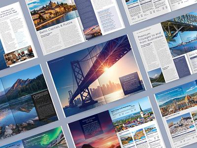 Travel Brochure DPS Concepts wip travel simplicity print magazine identity dps content concept brochure branding