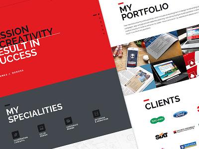 Portfolio Website wip website simplicity portfolio marketing ui identity clients digital branding interface advertising