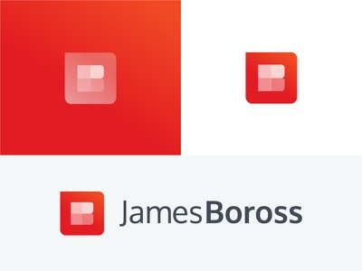 James Boross Branding WIP wip rebrand monogram logo identity digital clean branding brand