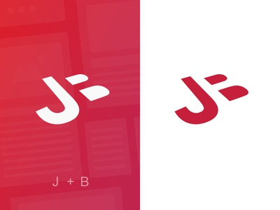 James Boross Rebrand red bold rebrand monogram logo identity digital clean branding brand