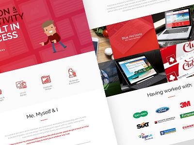 JJBoross.com Website icons website red bold rebrand monogram logo identity digital clean branding brand