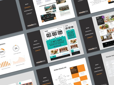 Hotel Mailer Presentation branding concept london ui ux slides presentation advertising marketing mailer hotels