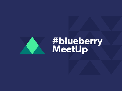 #blueberryMeetUp Branding pattern conference meetup blueberry triangle logo branding