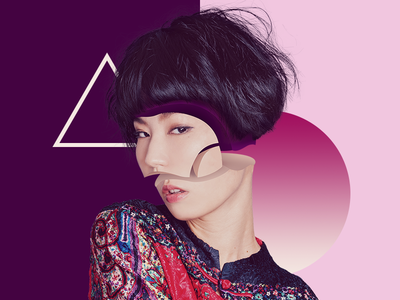 Fragmented - for fun inspiration photomanipulation people purple pink woman girl asian fragment