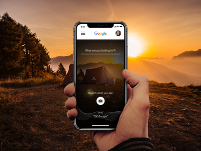 Google Search Redesign Concept redesign ui ux camera photo voice ios search google