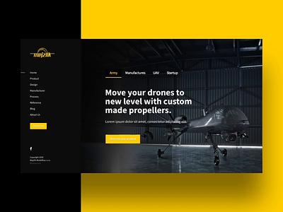 Mejzlik.eu - Carbon Propellers Homepage illustration web design ui ux aerial uav dron propeller carbon webdesign website