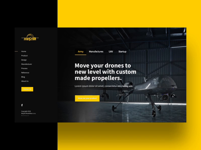 Mejzlik.eu - Carbon Propellers Homepage illustration web design ui ux aerial uav dron propeller carbon webdesign website