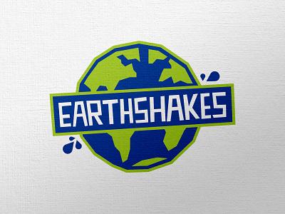 Earthshakes logo branding health fruit vegetable logo design brand identity