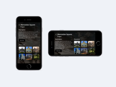 Content Page #01 content design dark theme mobile app ui visual design