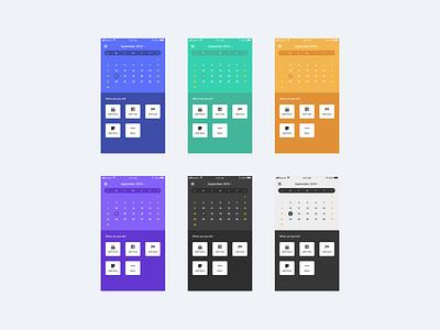 Calendar #01 mobile calendar design calendar ui calendar app calendar ui visual design