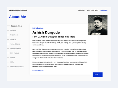 About Me #01 about me design visual design ui