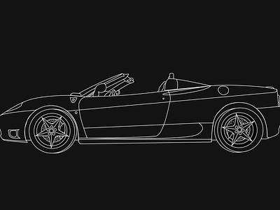 Ferrari Sketch Outline illustration sketch ferrari car