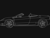 Ferrari Sketch Outline