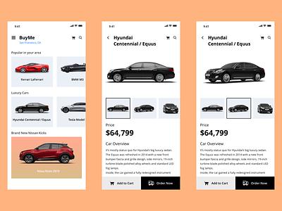Car Booking App (Mobile) minimalistic design car booking ui visual design