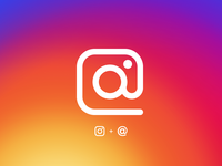 At sign Instagram