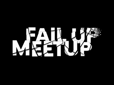 FailUp Meetup crash meetup fail logotype logo
