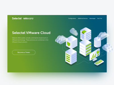 Cloud Services Page Hero sketch app landing page sketch cloud promo isometric illustration gradient page hero
