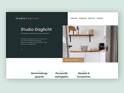 Studio Daglicht - Interior Design flat webdesigns webdesign web uxuidesign ui ux studio design branding