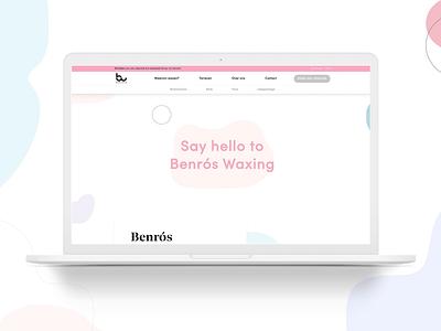 Addicted to wax - Webdesign Benros Waxing LIVE agency webdesigns webdevelopment web webdesign uxuidesign ux ui studio design