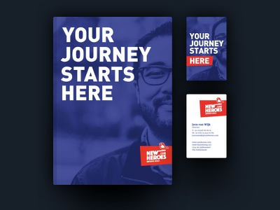 New Heroes Identity cover book business card personal community identity graphic design newheroes