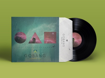 Gobang hammertap gobang music lp cover graphic design typography vinyl product